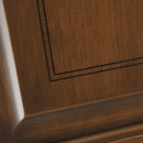 intarsio - detail in alder stained antique dark walnut with ebony bordered rosewood inlay