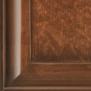 le radiche - detail in alder stained antique mahogany