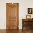 impero - door code Q-30 alder stained antique light walnut - portale with gold details