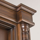 impero - detail in alder stained antique dark walnut
