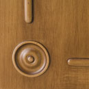 impero - detail in alder stained antique light walnut
