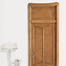 liberty - door code C-40 with transom window alder stained antique light walnut