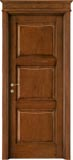 code 5-32 alder stained antique dark walnut - formelle doorhead with smooth casings