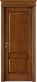 code 2-14 alder stained antique dark walnut - formelle doorhead with smooth casings
