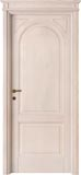 code 7-14 alder decapata finish - flat doorhead with turned blocks and standard casings