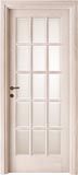 code 2-20 oak decapata finish - white satin, clear bevelled glass - standard casings