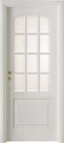 code 3-19 alder white lacquered finish - white satin, clear bevelled glass - standard casings