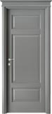 code 5-31 alder grey lacquered finish - flat doorhead with standard casings