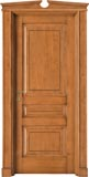 code 5-30 alder stained antique light walnut - broken gable doorhead with casings mod. smooth strip and plinth
