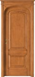 code 8R-14 alder stained antique light walnut - flat doorhead with turned blocks and standard casings
