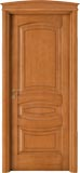 code 6-17 alder stained antique light walnut - bowed doorhead with standard casings