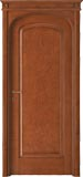 code 8R-11 alder stained antique mahogany - flat doorhead with turned blocks and standard casings