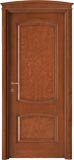 code 6-14 alder stained antique mahogany - bowed doorhead with standard casings