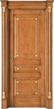 code Q-30 alder stained antique light walnut with gold details - portale with flat doorhead and gold details