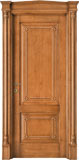 code Q-14 alder stained antique light walnut with antique details - portale with gable doorhead and antique details