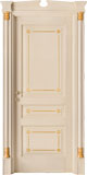 code Q-30 alder veneziana finish with gold details - portale with broken gable doorhead and gold details