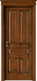 code 5-50 alder stained antique dark walnut - flat doorhead with smooth casings