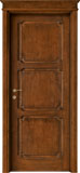 code 4T-32 alder stained antique dark walnut - flat doorhead with smooth casings