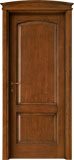 code 3-14 alder stained antique dark walnut - bowed doorhead with smooth casings