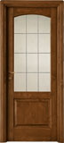 code 3-13 alder walnut base - leaded glass, 90° casings