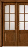 code 3-36 alder walnut base - double-leaf door with cattedrale glass, 90° casings