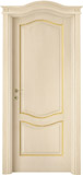code 7R-17 alder veneziana finish with gold profiles - 700R doorhead with smooth casings
