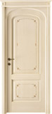 code 8R-14 alder veneziana finish with filetti decor - flat doorhead with turned blocks and standard casings