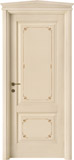code 2-14 alder veneziana finish with filetti decor - gable doorhead with standard casings