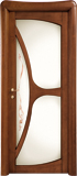 code C-31 alder stained antique dark walnut - glass satin and with ribbons motifs (type A)