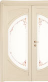 code C-51 alder veneziana finish - double-leaf door, glass with ribbons motifs