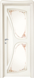 code C-31 alder white lacquered finish - glass satin and with ribbons motifs (type B)
