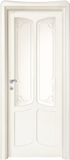 code C-41 alder white lacquered finish - glass with etched decor
