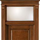 formelle - door code 2-14 with transom window with satin glass, clear bevelled - alder stained antique dark walnut
