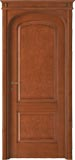 code 8R-14 alder stained antique mahogany - flat doorhead with turned blocks and standard casings