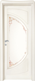 code C-51 alder white lacquered finish - glass with ribbons motifs