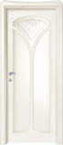 code C-11 alder white lacquered finish -  glass satin and with etched decor ( type A)