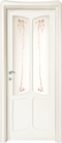code C-41 alder white lacquered finish - glass with ribbons motifs