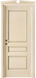 code 5-30 alder veneziana finish with green platband - broken gable doorhead with standard casings