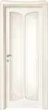code C-21 alder white lacquered finish - glass with etched decor