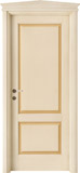code 2-14 alder veneziana finish with ochre platband - gable doorhead with standard casings