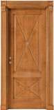 code 2-14 alder stained antique light walnut - square doorhead with casings mod. striped corbel and plinth