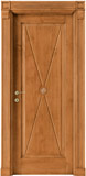 code 2-11 alder stained antique light walnut - square doorhead with casings mod. striped corbel and plinth
