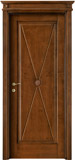 code 2-11 alder stained antique dark walnut - flat doorhead with turned blocks and standard casings