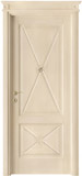 code 2-14 alder veneziana finish - flat doorhead with turned blocks and standard casings
