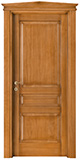 code P-30 tulipwood antique light walnut - gable doorhead with smooth casings 9 cm wide
