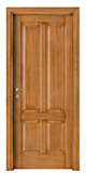 code P-40 tulipwood antique light walnut - smooth, standard casings