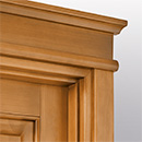 prima - flat doorhead detail in tulipwood antique light walnut