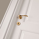 i laccati - door detail code 5-30 alder white lacquered finish