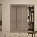 i laccati - double overlapping sliding door code 5-40  alder lacquered beige