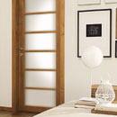 legni & lacche - door detail code L-20 alder stained light walnut
